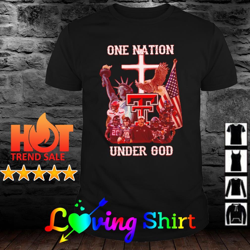 Top Texas Tech Athletics one nation under god shirt