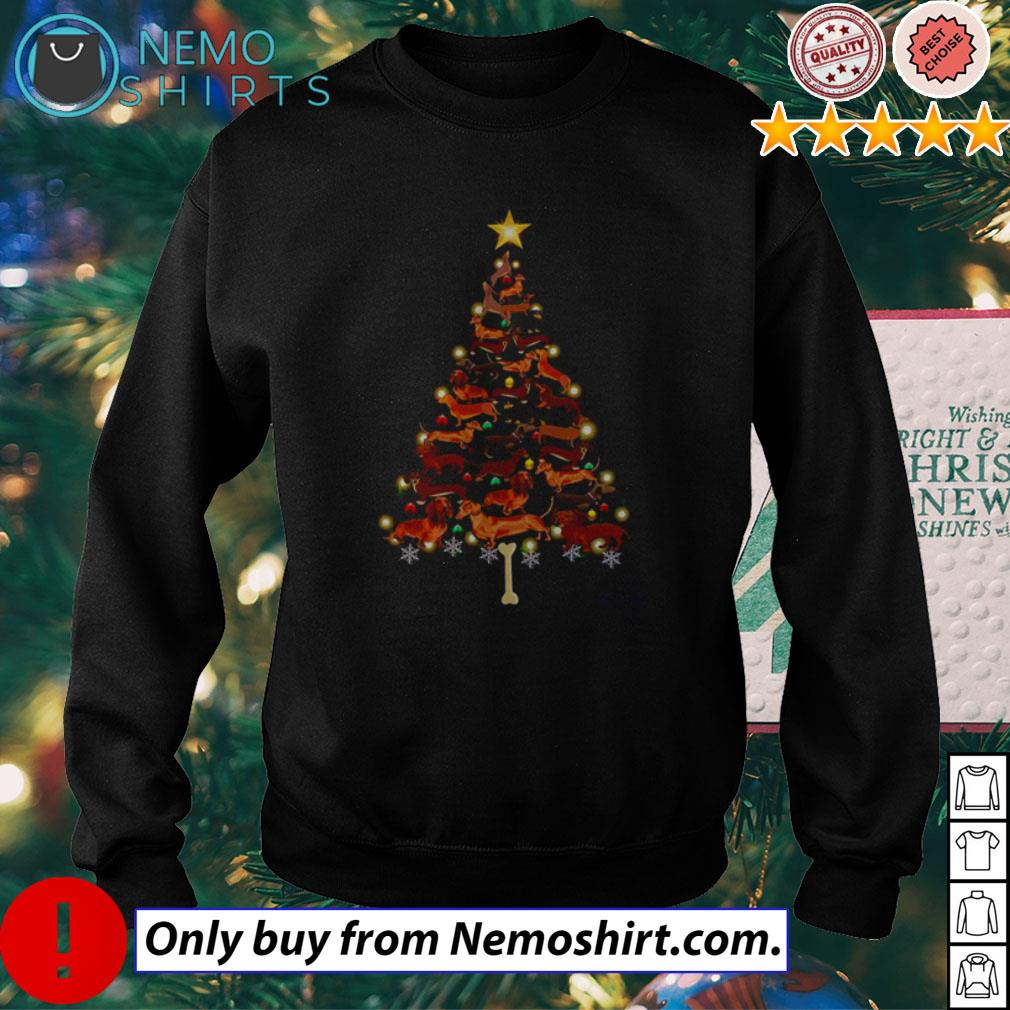 Dachshund Tree Christmas sweater