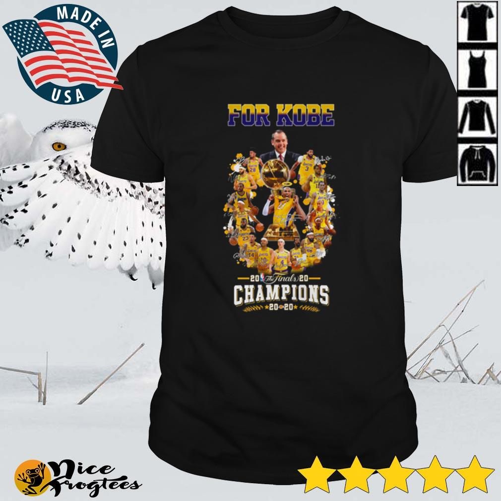 Top For Kobe 2020 The Finals Champions Los Angeles Lakers signatures shirt