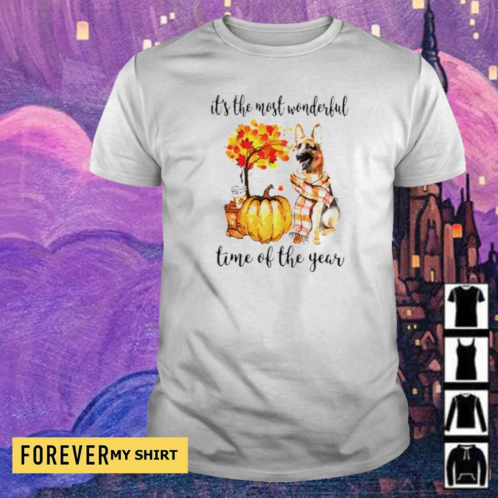 German Shepherd Fall pumpkin it's the most wonderful time of the year shirt