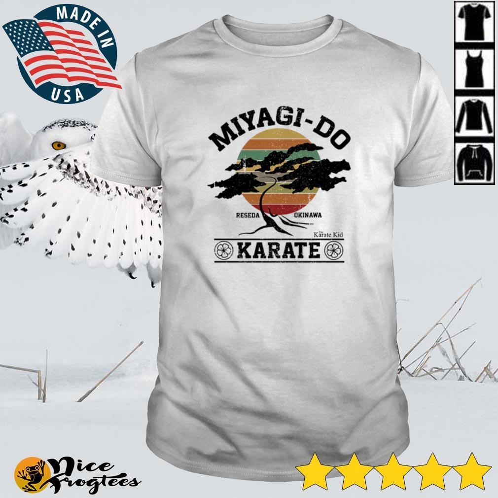 Top Miyagi-Do Reseda Okinawa The Karate Kid Karate sunset shirt