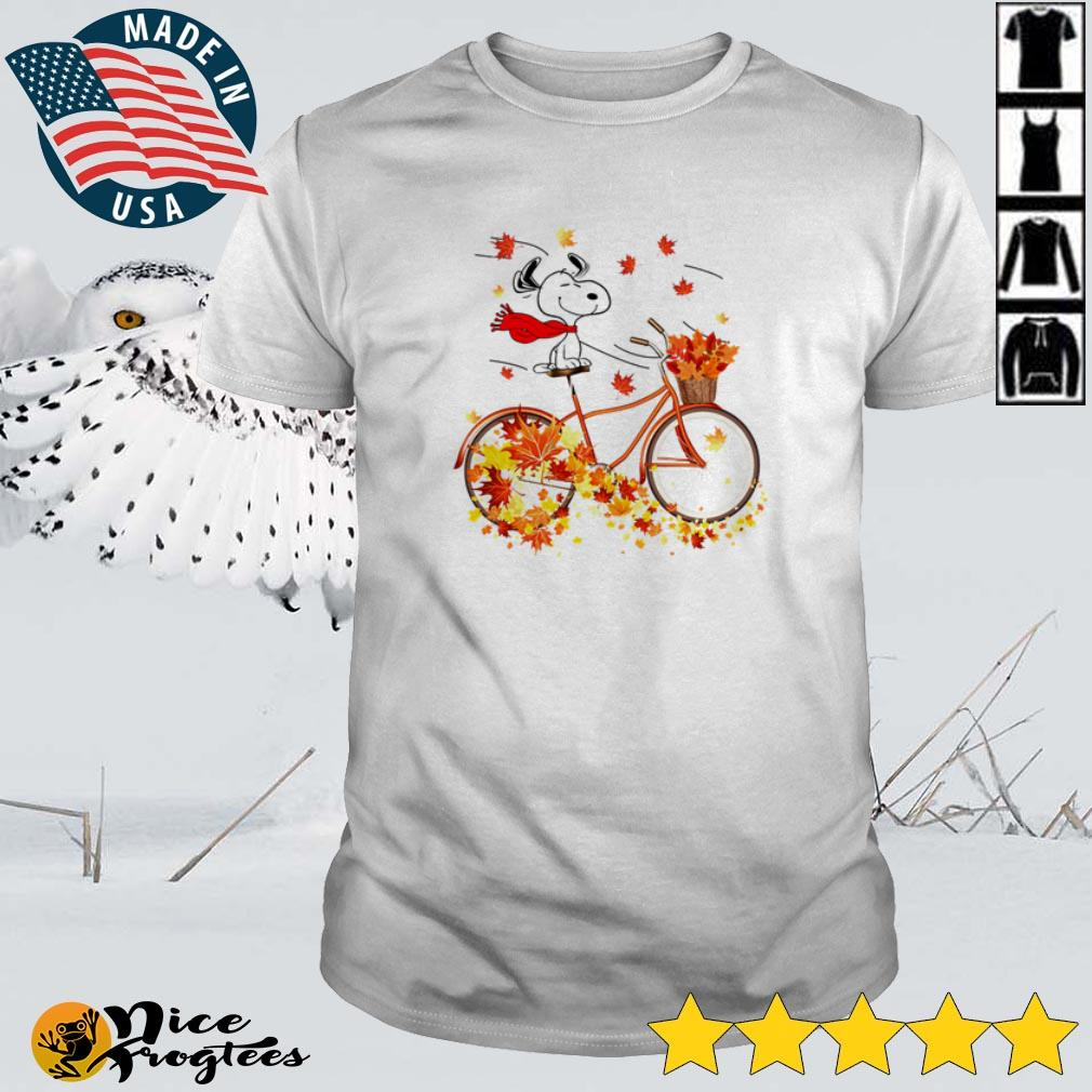 Snoopy with the Bicycle in the fall shirt